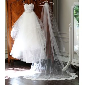 Hayley paige,  pepper gown veil